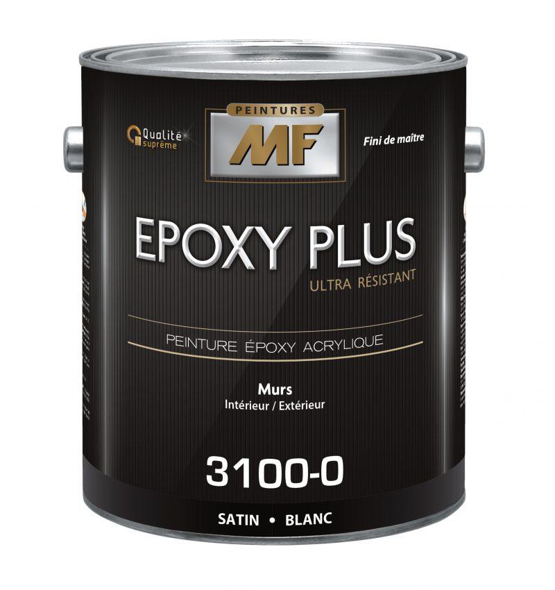 """alt= """" contenant de 3.78L de peinture epoxy plus MF finis satiné"""""""