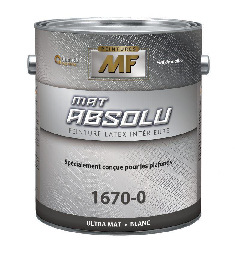 """alt="""" contenant 1 gallon peinture mat absolu"""""""