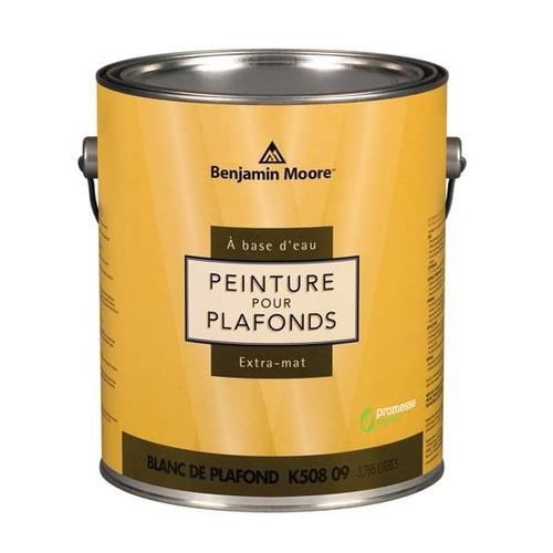 """alt=""""gallon de peinture au fini ultra mat pour les plafonds Benjamin Moore"""""""